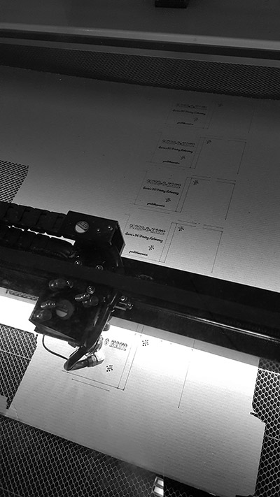 Taiere laser foaie carton