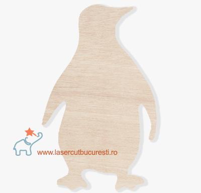 Blankuri lemn – Figurina pinguin lemn